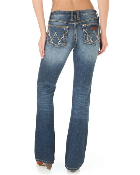 bootcut jeans for women on sale wrangler women s mae premium patch boot cut jeans boot barn
