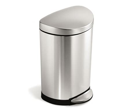 simplehuman bathroom trash can simplehuman 10l semi round stainless steel step trash can