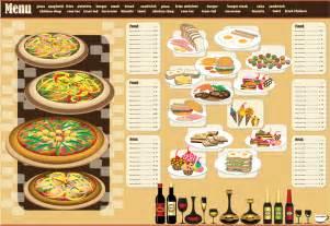 menu sle template レストランメニュー デザイン見本 restaurant menu design イラスト素材 ai eps