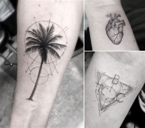 tattoo artists los angeles geometric line tattoos by los angeles