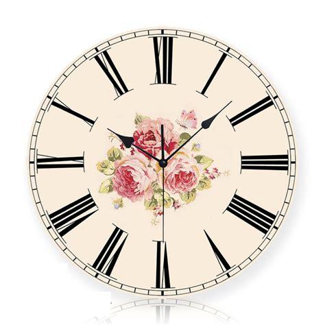 Bloom Blossom Wall Clock Sweet Home creative quartz digital vintage wall clock home decor provence flower sun movement