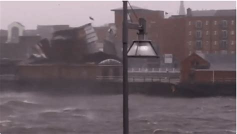 limerick boat club roof video roof blown off limerick boat club