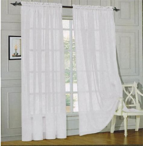 Valances 60 Inches Wide Comfort 174 2 Sheer Panel With 2inch Rod Pocket