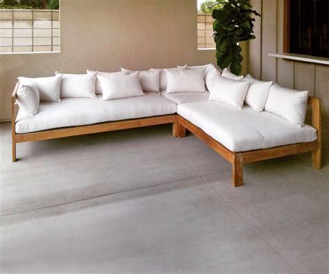 manhattan  piece deep seating teak sectional  cushion