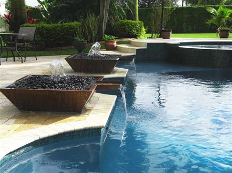 design ideas outdoor swimming pool water fountain design ideas
