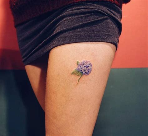 small upper thigh tattoos 25 best ideas about hydrangea on