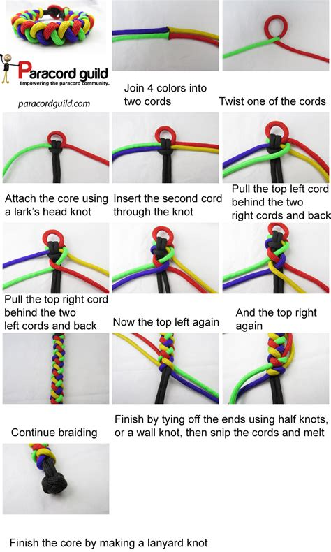 seil flechten anleitung braid paracord bracelet paracord guild