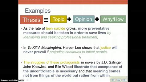 creating a thesis how to create a thesis statement