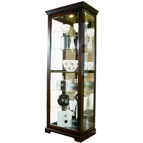 Sliding Door Display Cabinet Pulaski Two Way Sliding Door Curio 30 By 20 By 80 Inch Chocolate Cherry Ii Finish