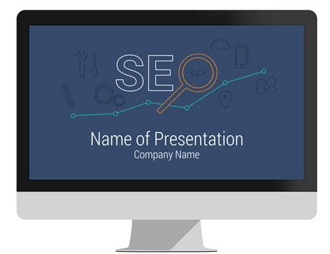 Seo Template by Seo Powerpoint Template Presentationdeck