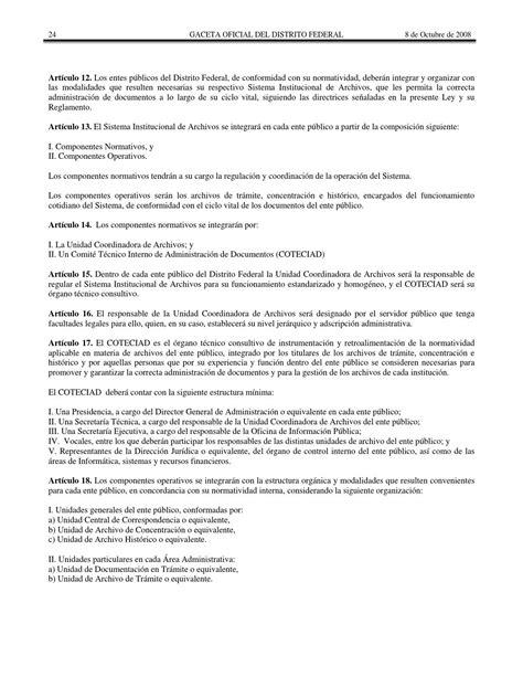 ley de archivos del distrito federal infodforgmx ley de archivos del distrito federal by consejer 237 a