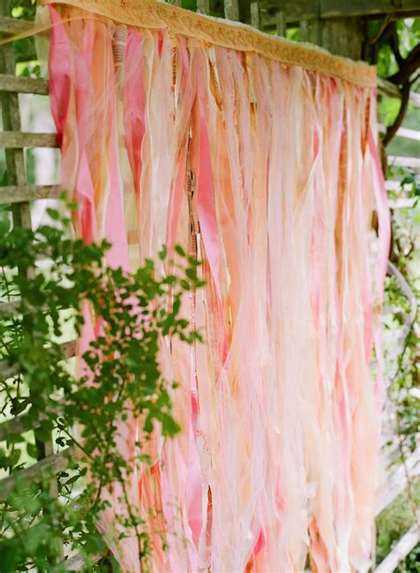pink fabric streamer backdrop elizabeth anne designs