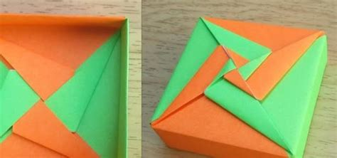Origami Fancy Box - how to make an origami square box lid tomoko fuse
