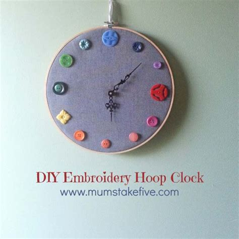 diy clock projects 26 cool diy embroidery projects and crafts