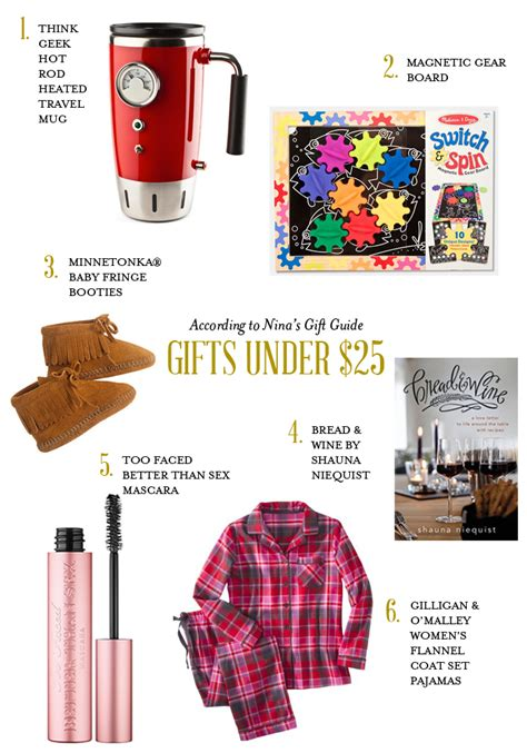 holiday gift guide under 25 according to nina