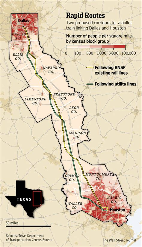 texas central railway map texas races for high speed rail wsj