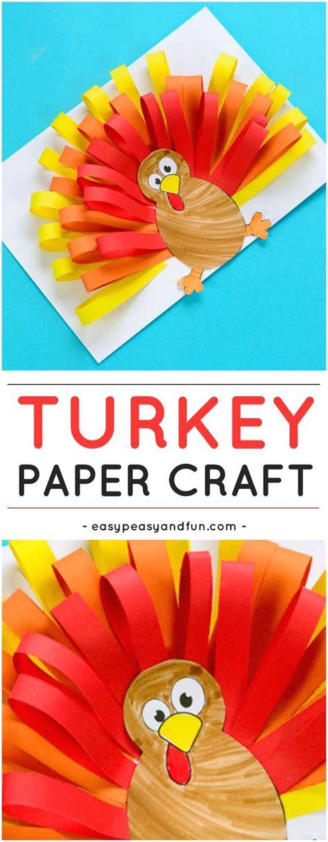 Thanksgiving Paper Craft - paper turkey craft turkey craft thanksgiving and activities