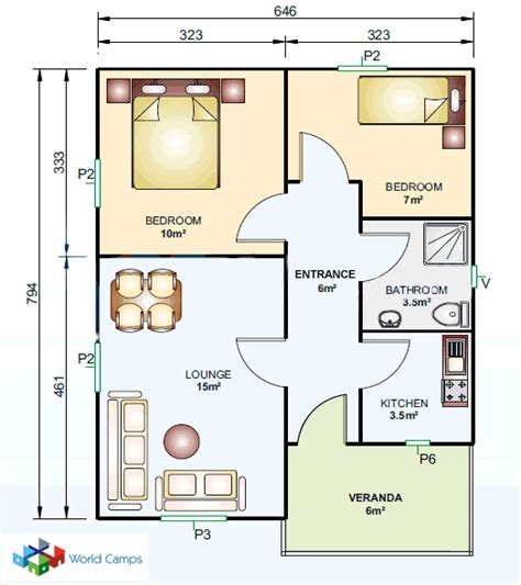 Tiny Cottages Floor Plans 53 Sq Mtr Prefab House Ready Prefab Houses Quick Build