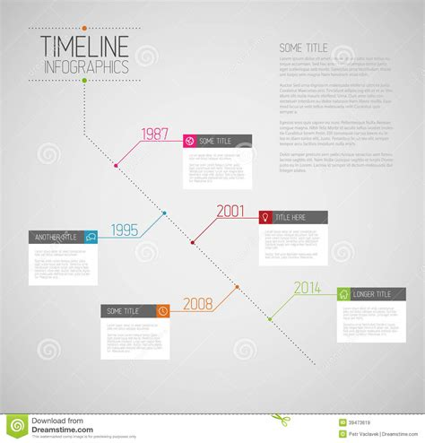 infographic diagonal timeline report template stock