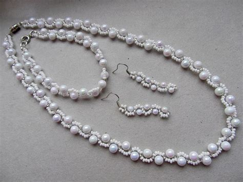 white necklace pattern best seed bead jewelry 2017 free pattern for necklace