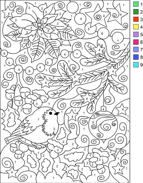 coloring by numbers s free coloring pages color by number winter