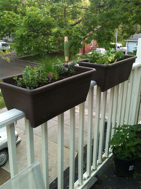 banister planters c jane do patio preparation railing planter herb garden