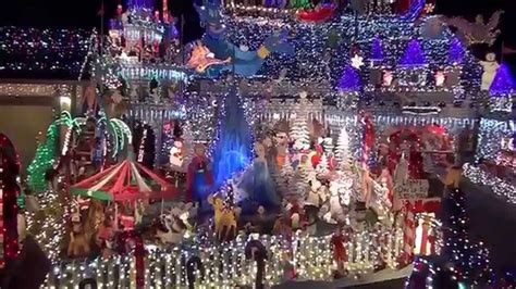 house transformed into a christmas castle winner of