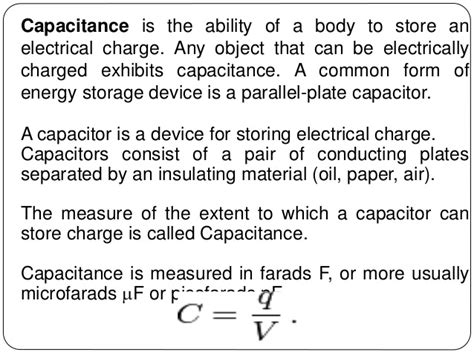 function of capacitor connected in parallel with the load resistor capacitance and capacitor