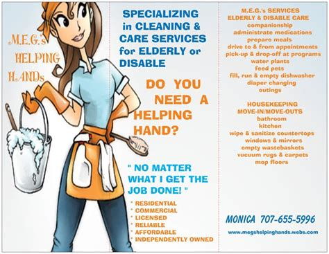 housekeeping flyers specializing in cleaning care for