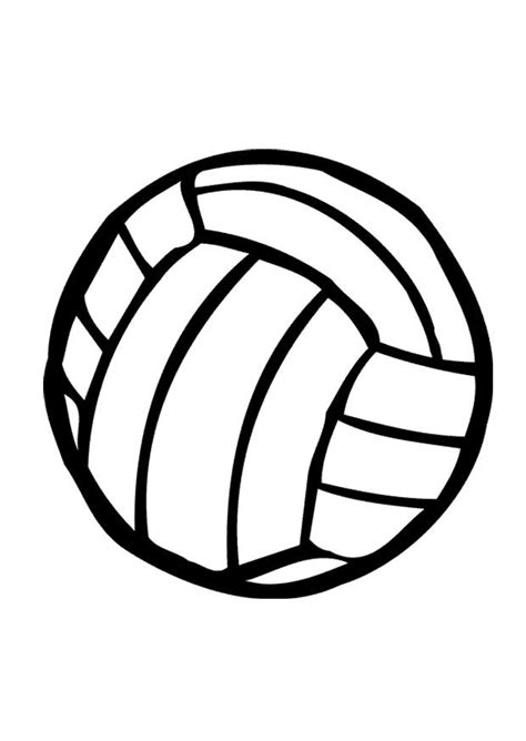 cartoon volleyball coloring page kleurplaat volleybal afb 10404