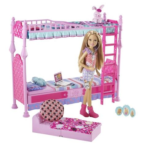 barbie glam bedroom barbie sisters sleeptime bedroom and stacie doll set 1