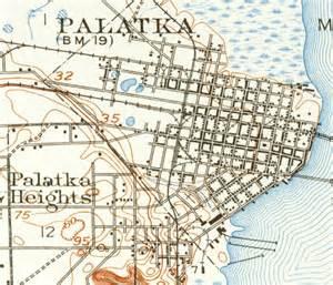 where is palatka florida on a map map of palatka 1915 florida