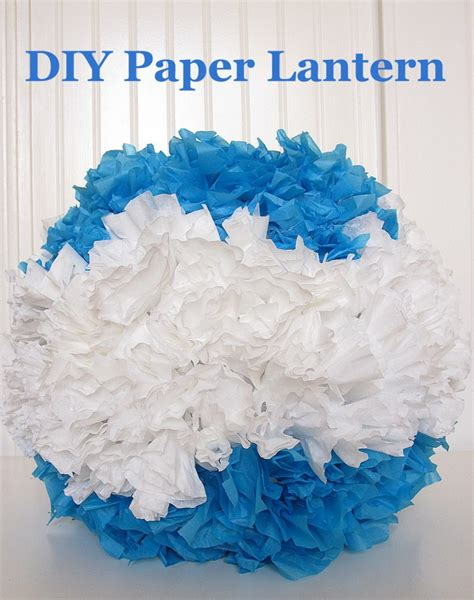How To Make Tissue Paper Lanterns - how to make a pom pom paper lantern
