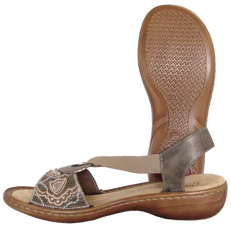 Comfortable Summer Sandals by Rieker Vesur Comfortable Summer Sandals In Grey