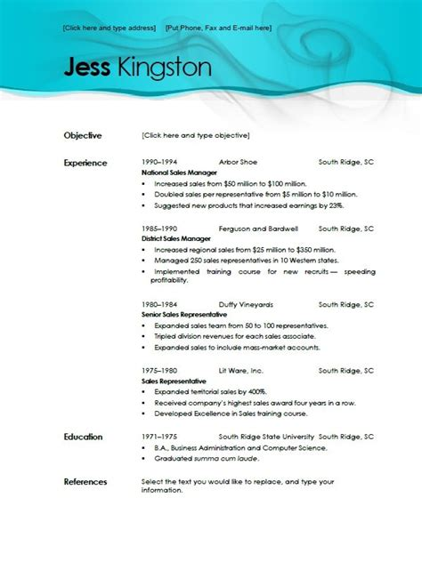 free downloadable resume templates for word 2010 free resume templates aqua dreams resume