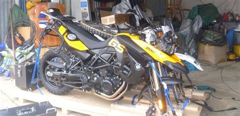 packing motorbikes for air freight adventure motorcycle travel