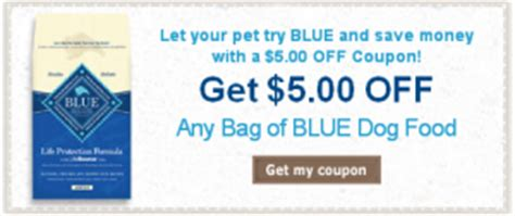 Printable Blue Dog Food Coupons 2015 | blue buffalo coupons get a 5 off coupon for any bag of