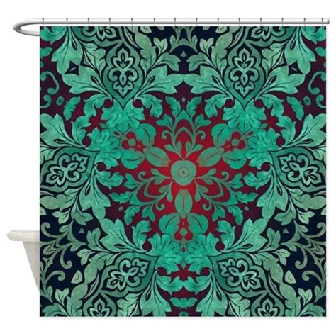 bohemian shower curtains rustic bohemian damask pattern shower curtain by admin
