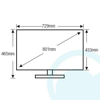 80 Inch Tv Dimension by Sony Kdl32w700b 32 Inch 80 1cm Hd Smart Led Lcd Tv
