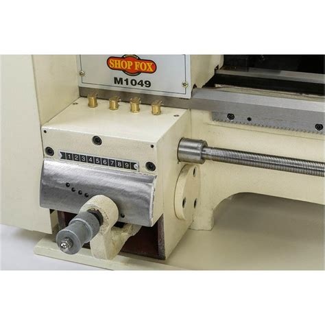 metal bench lathe shop fox m1049 precision 3 4 hp 110 volt 9 inch x 19 inch