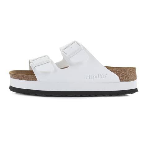 birkenstock platform sandals womens birkenstock arizona papillio white narrow platform