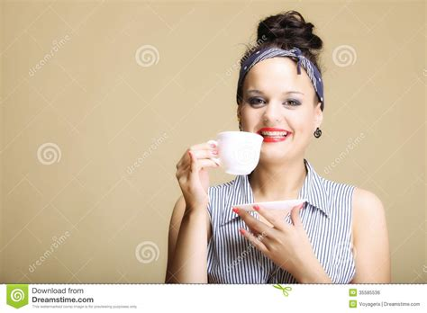 Coffe Mug by Beverage Woman Holding Tea Or Coffee Cup Stock Photo