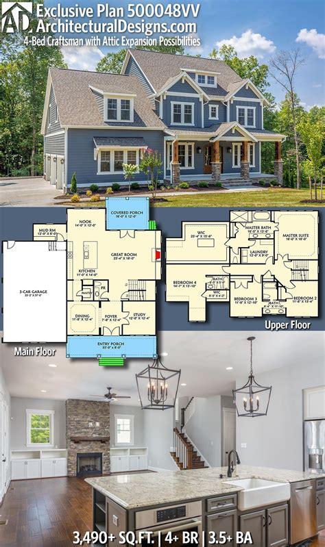 plan vv  bed craftsman  attic expansion