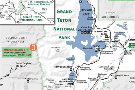 grand map park grand teton national park map my