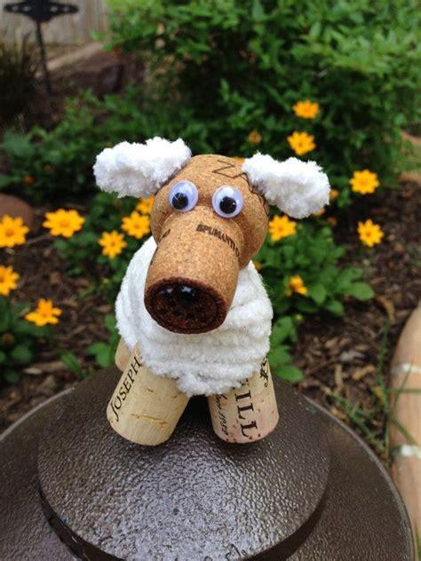 how to make a dog cork ornament fluffy white puppy wine cork ornament wine cork craft wine decor wine gift rescue