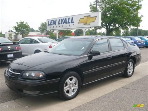 2002 chevrolet impala 2002 black chevrolet impala ls 10182896 gtcarlot