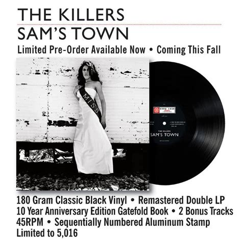 Cd Killers Sams Town Usa Press the killers to re issue sam s town and of host a las vegas residency radio x