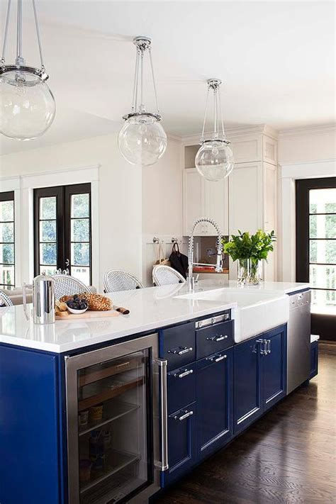 blue kitchen island blue kitchen island transitional kitchen terracotta
