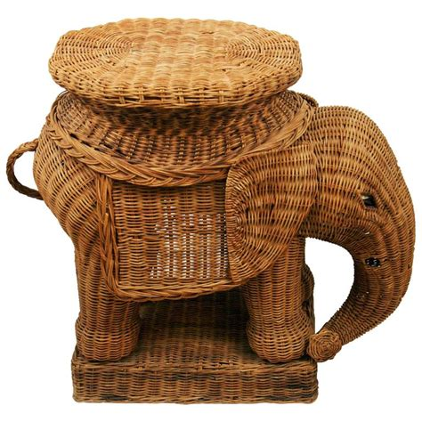 elephant tables for sale wicker elephant table for sale at 1stdibs