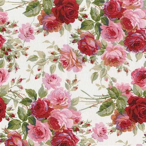 Vintage Rose Home Decor Backing Fabric For Cabbage Rose Kit Keepsake Quilting